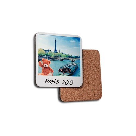 Custom square cork coaster
