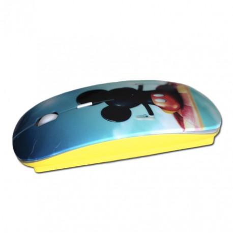 Créez votre souris personnalisée jaune avec photos et textes