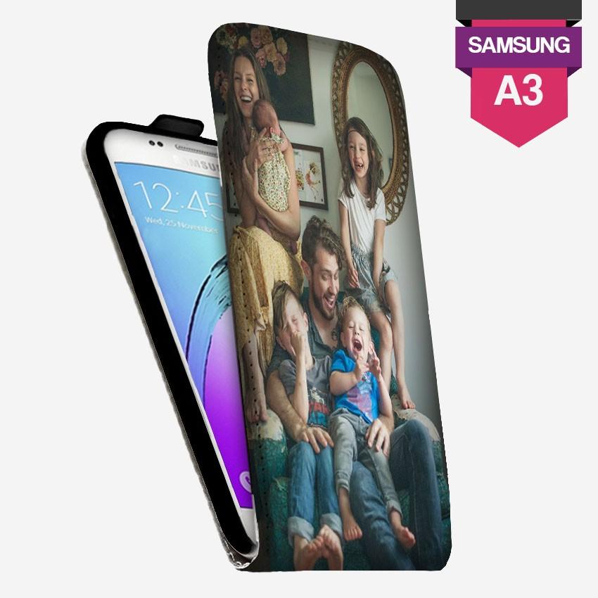 Etui Galaxy A3 2017 personnalisé à clapet en cuir