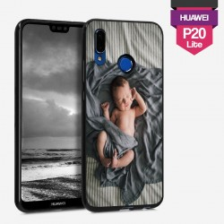 Huawei P20 personalized hard case with plain sides